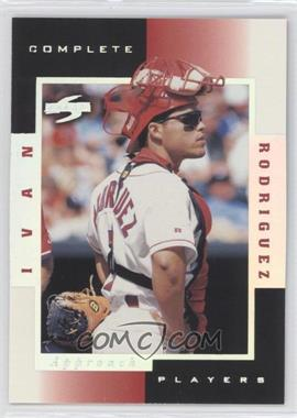 1998 Score Complete Players Sample #7A - Ivan Rodriguez
