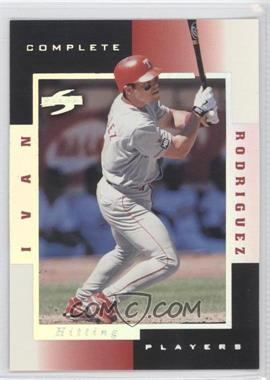 1998 Score Complete Players Sample #7B - Ivan Rodriguez