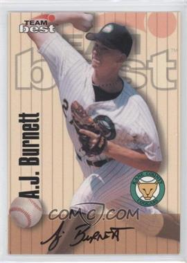 1998 Team Best/Best Signature Series Autographs #AJBU - A.J. Burnett
