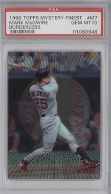 1998 Topps Mystery Finest Borderless #M7 - Mark McGwire [PSA 10]