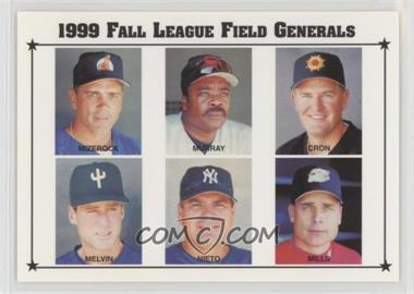 1999 Arizona Fall League Prospects - [Base] #28 - John Mizerock, Eddie Murray, Chris Cron, Bob Melvin, Tom Nieto, Brad Mills