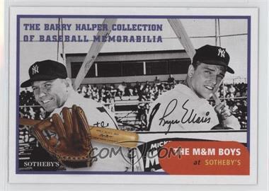 1999 Barry Halper Collection of Baseball Memorabilia Sotheby's - [Base] #12 - Mickey Mantle, Roger Maris