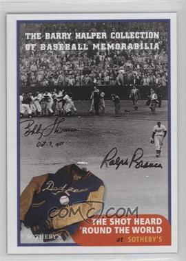 1999 Barry Halper Collection of Baseball Memorabilia Sotheby's - [Base] #7 - Bobby Thompson