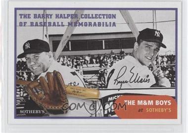 1999 Barry Halper Collection of Baseball Memorabilia Sotheby's #12 - Mickey Mantle, Roger Maris
