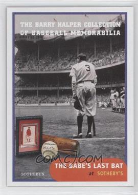1999 Barry Halper Collection of Baseball Memorabilia Sotheby's #2 - Babe Ruth