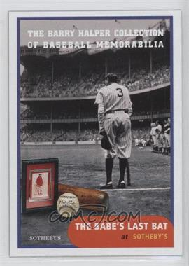 1999 Barry Halper Collection of Baseball Memorabilia Sotheby's #2 - Babe Ruth