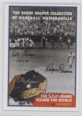 1999 Barry Halper Collection of Baseball Memorabilia Sotheby's #7 - Bobby Thompson
