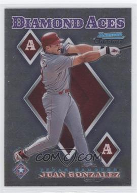 1999 Bowman Chrome - Diamond Aces #DA17 - Juan Gonzalez
