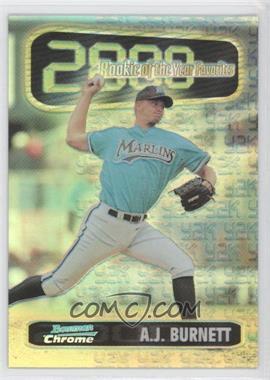 1999 Bowman Chrome [???] #ROY3 - A.J. Burnett