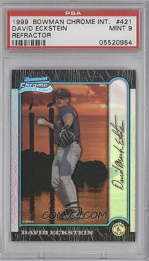 1999 Bowman Chrome International Refractors #421 - David Eckstein /100 [PSA 9]