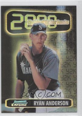 1999 Bowman Chrome Rookie of the Year Favorites Refractors #ROY1 - Ryan Anderson