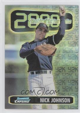 1999 Bowman Chrome Rookie of the Year Favorites Refractors #ROY10 - Nick Johnson