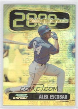 1999 Bowman Chrome Rookie of the Year Favorites Refractors #ROY5 - Alex Escobar