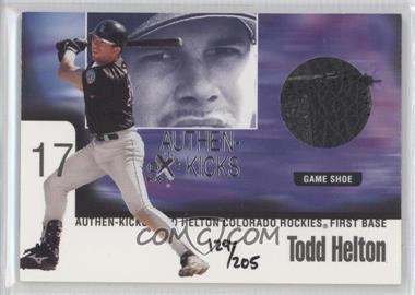 1999 EX Century Authen-Kicks #6 AK - Todd Helton /205