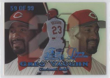1999 Flair Showcase Row 1 Legacy Collection #59L - Greg Vaughn /99