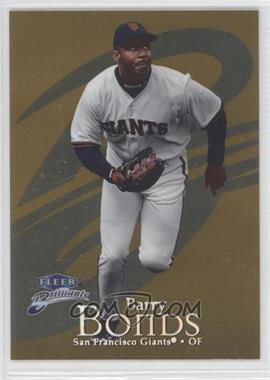 1999 Fleer Brilliants Gold #25G - Barry Bonds /99