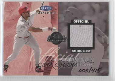 1999 Fleer Mystique Feel The Game #NoN - Juan Gonzalez /415