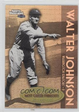 1999 Fleer Sports Illustrated Greats of the Game [???] #10RB - Walter Johnson