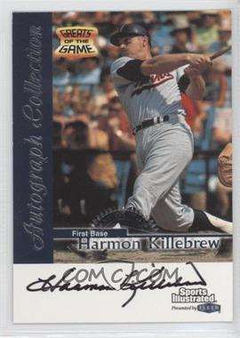 1999 Fleer Sports Illustrated Greats of the Game Autographs #HAKI - Harmon Killebrew