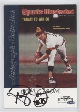 1999 Fleer Sports Illustrated Greats of the Game Autographs #RAJO - Randy Jones