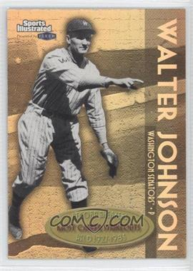 1999 Fleer Sports Illustrated Greats of the Game Record Breakers Gold #10 RB - Walter Johnson