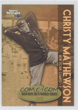 1999 Fleer Sports Illustrated Greats of the Game Record Breakers Gold #4 RB - Christy Mathewson