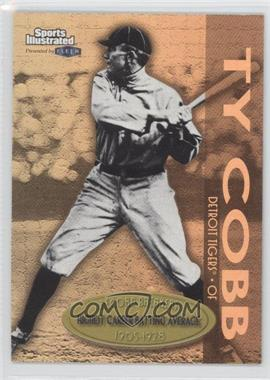 1999 Fleer Sports Illustrated Greats of the Game Record Breakers Gold #9 RB - Ty Cobb