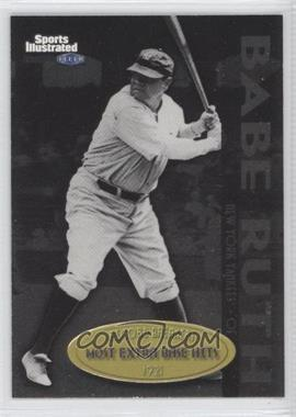 1999 Fleer Sports Illustrated Greats of the Game Record Breakers #3 RB - Babe Ruth