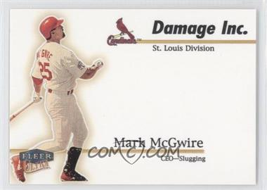 1999 Fleer Ultra [???] #10DI - Mark McGwire