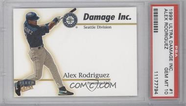 1999 Fleer Ultra [???] #1DI - Alex Rodriguez [PSA 10]
