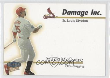 1999 Fleer Ultra Damage Inc. #10 DI - Mark McGwire