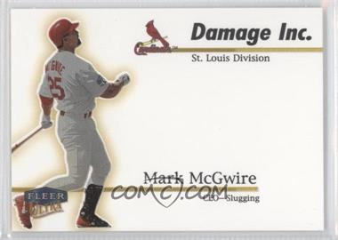1999 Fleer Ultra Damage Inc. #10 DI - Mark McGwire