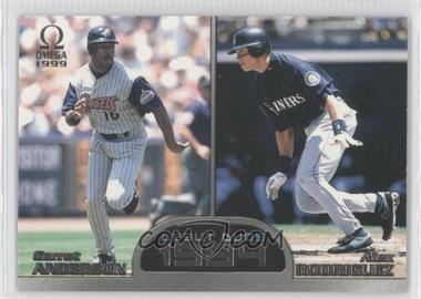 1999 Pacific Omega - Debut Duos #3 - Garret Anderson, Alex Rodriguez