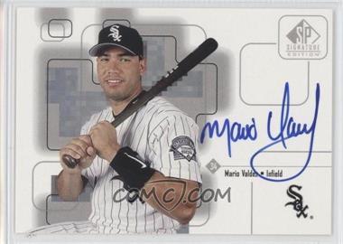 1999 SP Signature Edition - Autographs #MV - Mario Valdez