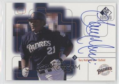 1999 SP Signature Edition Autographs #GMj - Gary Matthews Jr.