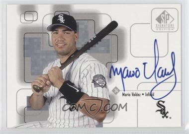1999 SP Signature Edition Autographs #MV - Mario Valdez