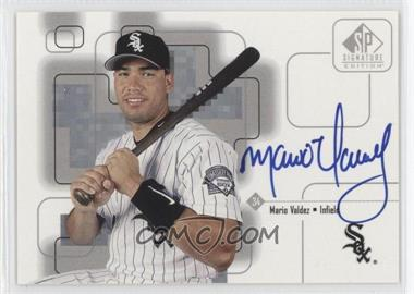 1999 SP Signature Edition Autographs #MV - Mario Valdez /4950