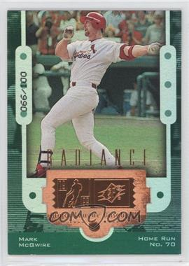 1999 SPx Radiance #10 - Mark McGwire /100