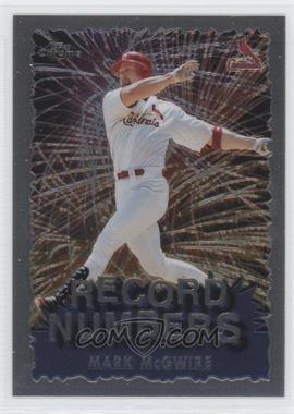 1999 Topps Chrome Record Numbers #RN1 - Mark McGwire
