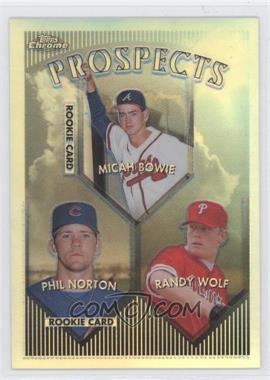 1999 Topps Chrome Refractor #428 - Phil Norton, Randy Wolf, Micah Bowie