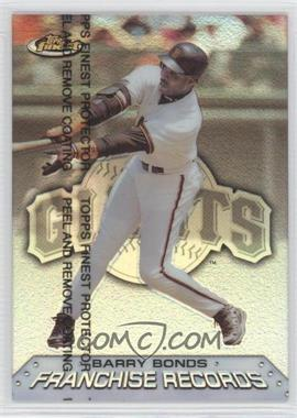 1999 Topps Finest Franchise Records Refractor #FR9 - Barry Bonds