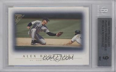 1999 Topps Gallery - [Base] - Player's Private Issue #57 - Alex Rodriguez /250 [BGS9]
