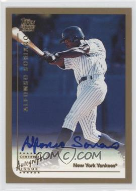 1999 Topps Traded Certified Autograph [Autographed] #T65 - Alfonso Soriano