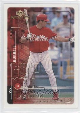 1999 Upper Deck MVP Gold Script #157 - Pat Burrell /100