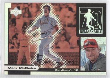 1999 Upper Deck Ovation - Remarkable Moments #M15 - Mark McGwire