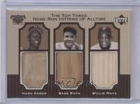 Babe Ruth, Hank Aaron, Willie Mays