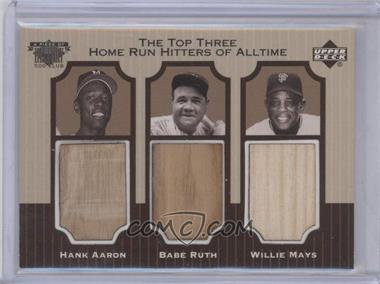 1999 Upper Deck Piece of History 500 Club #NNU - Babe Ruth, Hank Aaron, Willie Mays
