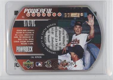 1999 Upper Deck Powerdeck - Powerful Moments - CD-ROM #P3 - Cal Ripken Jr.