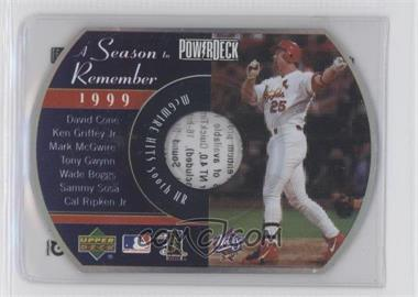 1999 Upper Deck Powerdeck A Season to Remember #NoN - Mark McGwire