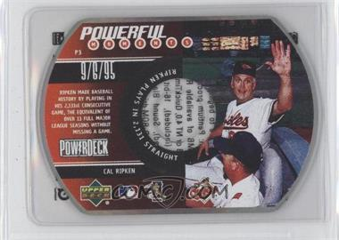 1999 Upper Deck Powerdeck Powerful Moments CD-ROM #P3 - Cal Ripken Jr.